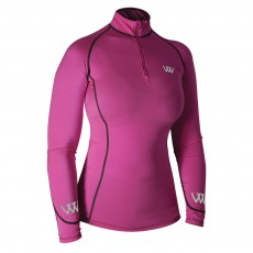 Woof Wear Ladies Performance Riding Shirt (Berry)