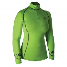 Woof Wear Ladies Performance Riding Shirt (Lime)