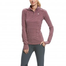 Ariat Women's Lowell 2.0 1/4 Zip (Liquorice Running Horses)