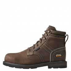 Ariat Men's Groundbreaker 6'' Waterproof Safety Boots (Dark Brown)