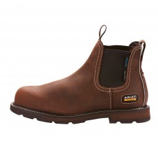 Ariat Men's Chelsea Groundbreaker Waterproof Steel Toe Work Boot (Brown)