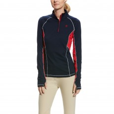Ariat Women's Team Lowell 2.0 1/4 Zip (Navy/Red)