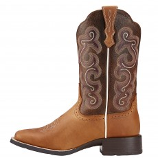 Ariat Women's Quickdraw Western Boots (Badlands Brown/Wicker)