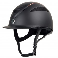 Gatehouse Conquest MKII Riding Hat (Black/Rose Gold Ltd Ed)