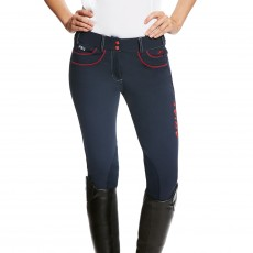 Ariat Women's FEI Olympia Acclaim Knee Patch Breeches (Navy)