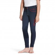 Ariat Girl's FEI Olympia Acclaim Knee Patch Breeches (Navy)