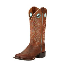 Ariat Women's Round Up Ryder Western Boots (Sassy Brown)
