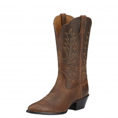 Ariat Women's Heritage R Toe Western Boots (Distressed Brown)