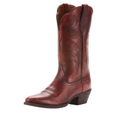 Ariat Women's Heritage R Toe Western Boots (Ombre Red)