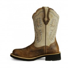 Ariat Women's Showbaby Western Boots (Earth/Bone Crackle)