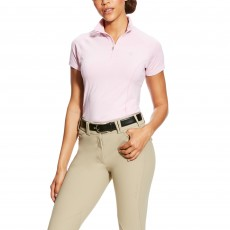 Ariat Women's Odyssey Seamless Short Sleeve 1/4 Zip (Lime Chaser Purple Heather)