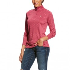 Ariat Women's Sunstopper 1/4 Zip (Rose Violet Dot)