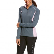 Ariat Women's Tri Factor 1/4 Zip (Weathered Slate)