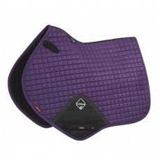 LeMieux Close Contact Plain Suede Saddlepad (Blackcurrant)