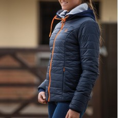 Mark Todd Ladies Quilted Rhapsody Jacket (Navy/Orange)