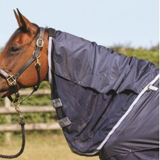 Mark Todd Showerproof Multi Purpose Fly Neck Cover (Navy)