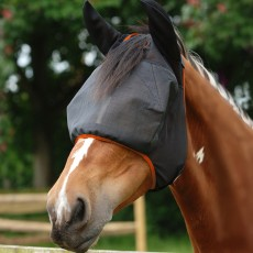 Equilibrium Field Relief Midi Fly Mask With Ears (Black/Orange)