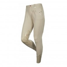 LeMieux Men's Lugano Knee Patch Breeches (Beige)
