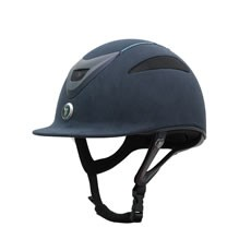 Gatehouse Conquest MKII Riding Hat (Suedette Crystal Navy)