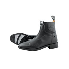 Mark Todd Adults Short Competition Boots Front Zip (Black)