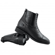 Mark Todd Adults Jodhpur Boots Synthetic Back Zip (Black)