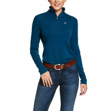 Ariat Women's Cadence Wool 1/4 Zip Base Layer (Dream Teal)