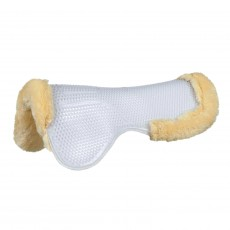 Mark Todd Fleece Lined Gel Half Pad (White)