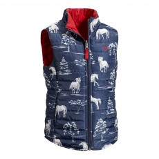 Ariat Girl's Emma Reversible Vest (Shadow Pasture Print)