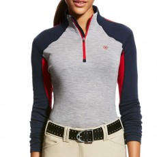 Ariat Women's Cadence Wool 1/4 Zip Base Layer (Team)