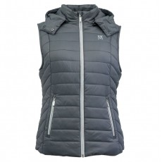 Mark Todd Women's Winter Padded Gilet (Grey/Silver)