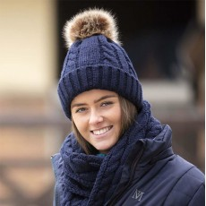 Mark Todd Knitted Bobble Hat (Navy)
