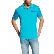 Ariat (Sample) Men's Freeze Point Polo (Blue)