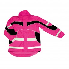 Equisafety Adults Hi-Vis Waterproof Lightweight Jacket (Pink)