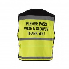 Equisafety Adults Air Waistcoat Please Pass Wide & Slowly (Yellow)