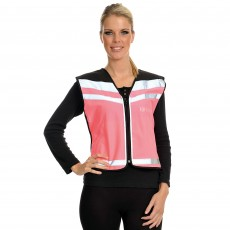 Equisafety Adults Air Waistcoat Please Pass Wide & Slowly (Pink)