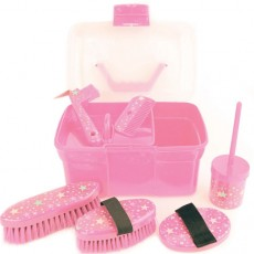 Lincoln Star Pattern Grooming Kit (Pink)