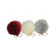 Green House Fluffy Pom Pom Key Ring