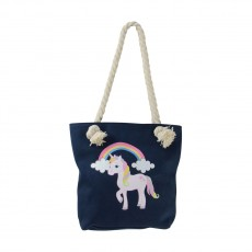 Little Rider Unicorn Tote Bag (Navy)