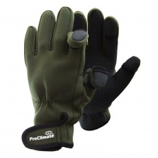 Anglers Neoprene Gloves (Olive)
