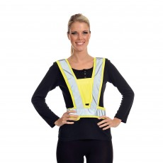 Equisafety Adults Reflective Hi-Vis Adjustable Body Harness (Yellow)