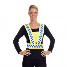 Equisafety Adults Polite Reflective Hi-Vis Adjustable Body Harness (Yellow)