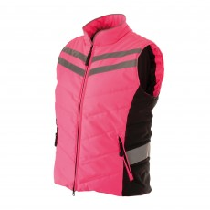 Equisafety Adults Quilted Hi-Vis Gilet (Pink)
