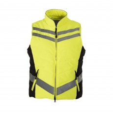 Equisafety Adults Quilted Hi-Vis Gilet (Yellow)