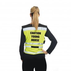 Equisafety Adults Air Waistcoat Caution Young Horse (Yellow)