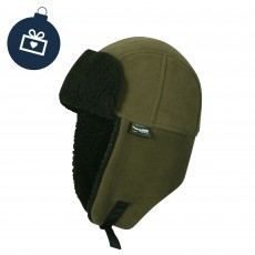Waterproof Mens Fleece Lined Waterproof Trapper Hat Olive