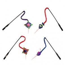 Kong Cat Teaser stick with Laser (Assorted Colours)