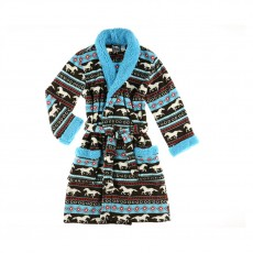 LazyOne Adults Horse Bathrobe (Fair Isle)