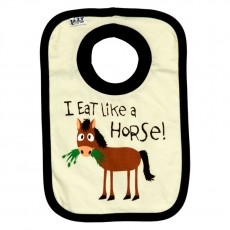 LazyOne Baby Bib (Eat Like a Horse)