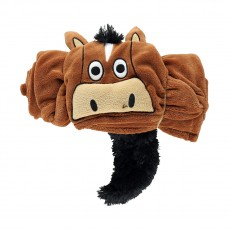 LazyOne Hooded Critter Fleece Blanket Horse (Brown)