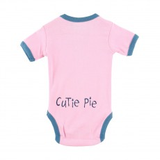 LazyOne Moody Pink Cow Babygrow (Pink)